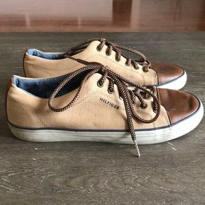 Tommy Hilfiger Men Canvas Sneakers Shoes Size 9.5